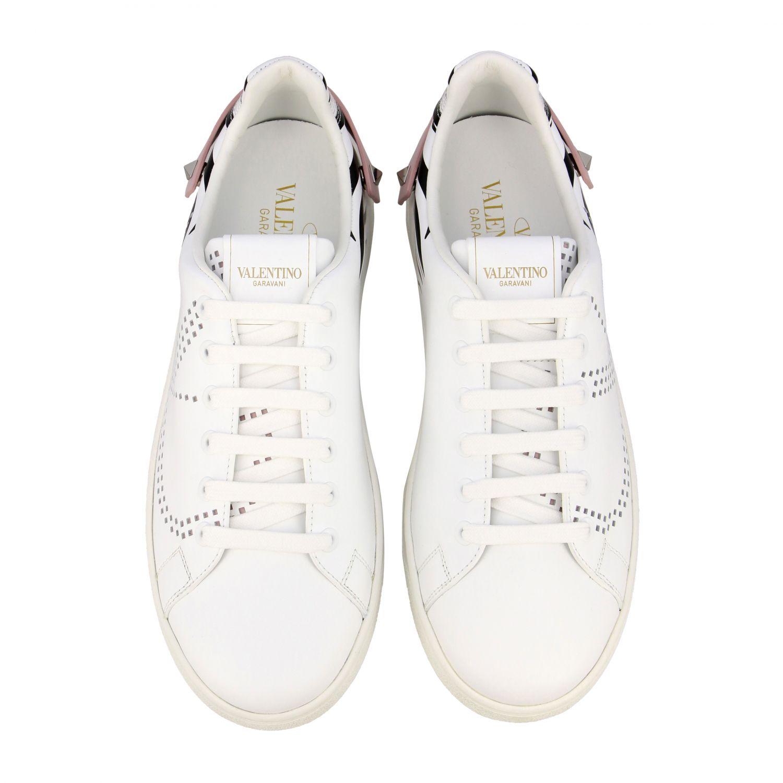 Sneakers Backnet Valentino Garavani in pelle con stampa zebrata bianco 3