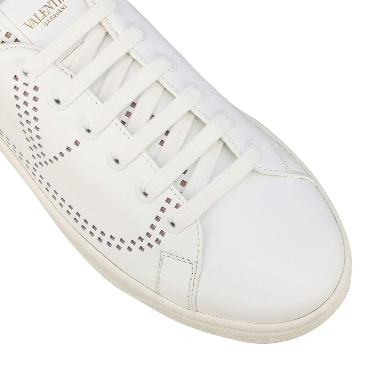 Sneakers Backnet Valentino Garavani in pelle con stampa zebrata bianco 4