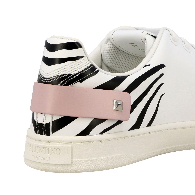 Sneakers Backnet Valentino Garavani in pelle con stampa zebrata bianco 5