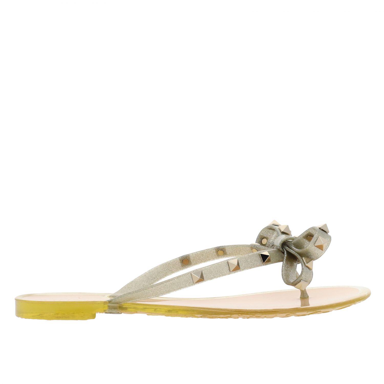 Chaussures femme Valentino Garavani or 1