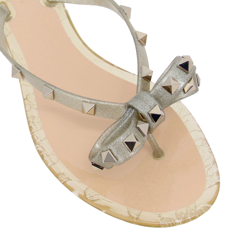Chaussures femme Valentino Garavani or 4