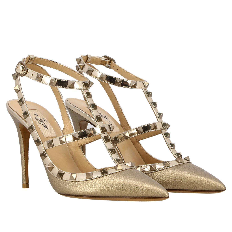 鞋 女士 Valentino Garavani 金色 2