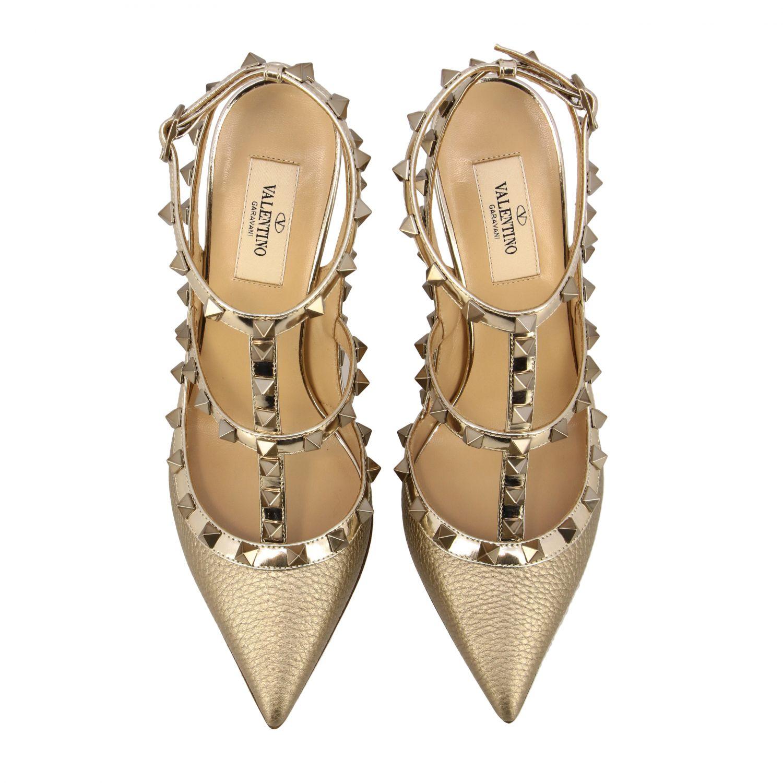 鞋 女士 Valentino Garavani 金色 3