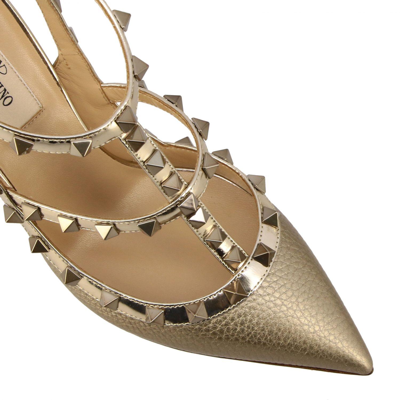 鞋 女士 Valentino Garavani 金色 4