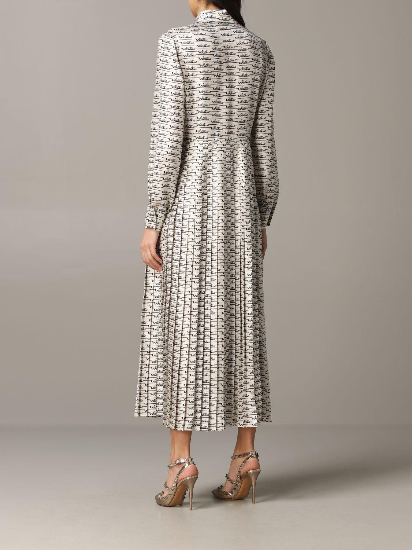 Платье шелковое Женское Valentino слоновая кость 2
