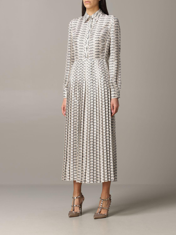 Платье шелковое Женское Valentino слоновая кость 3
