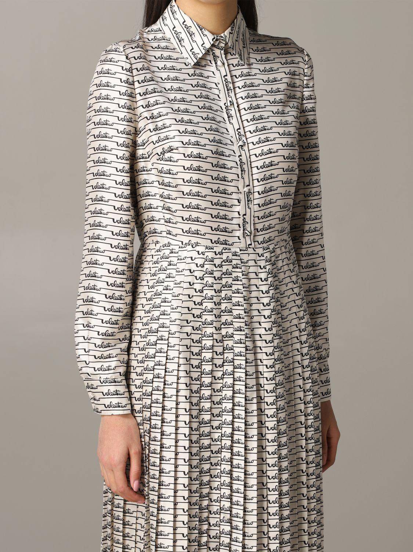 Платье шелковое Женское Valentino слоновая кость 4