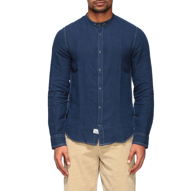 Camisa hombre Blauer azul oscuro 1