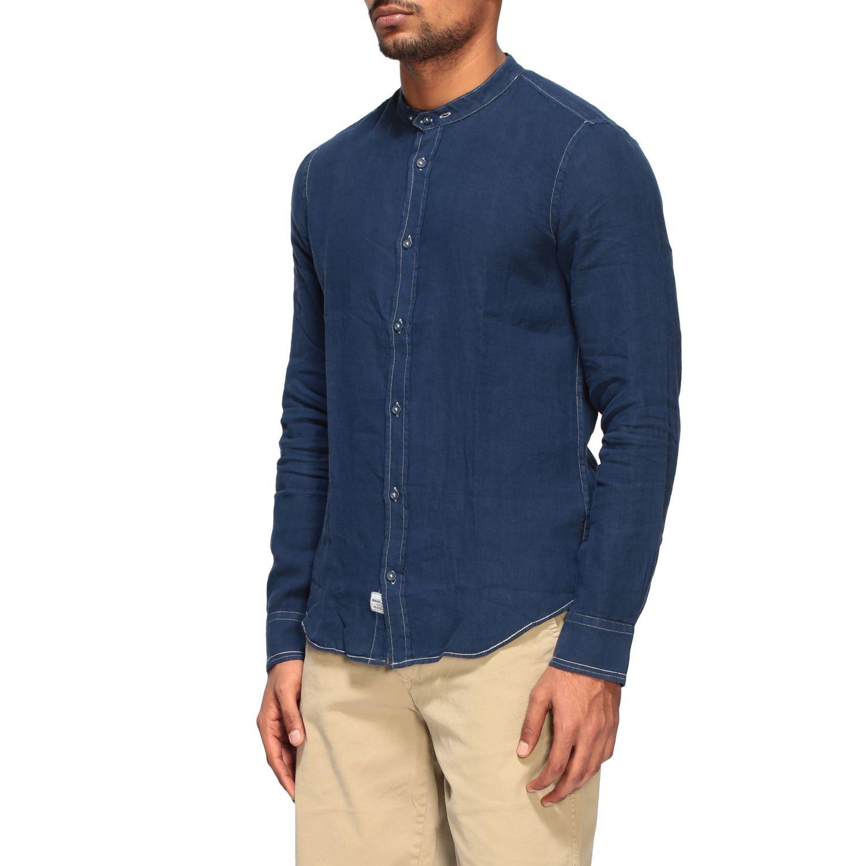 Camisa hombre Blauer azul oscuro 4
