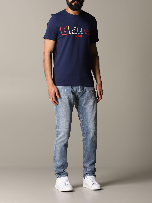 T-shirt herren Blauer blau 2