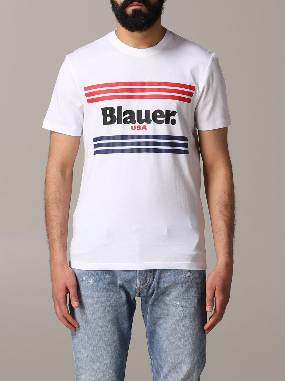 Футболка Blauer: Футболка Мужское Blauer белый 1