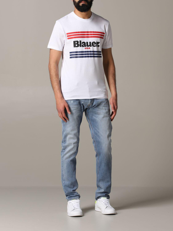 Футболка Blauer: Футболка Мужское Blauer белый 2