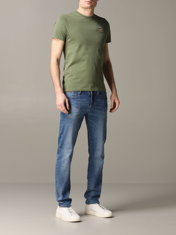 T-Shirt Blauer: T-shirt herren Blauer military 2