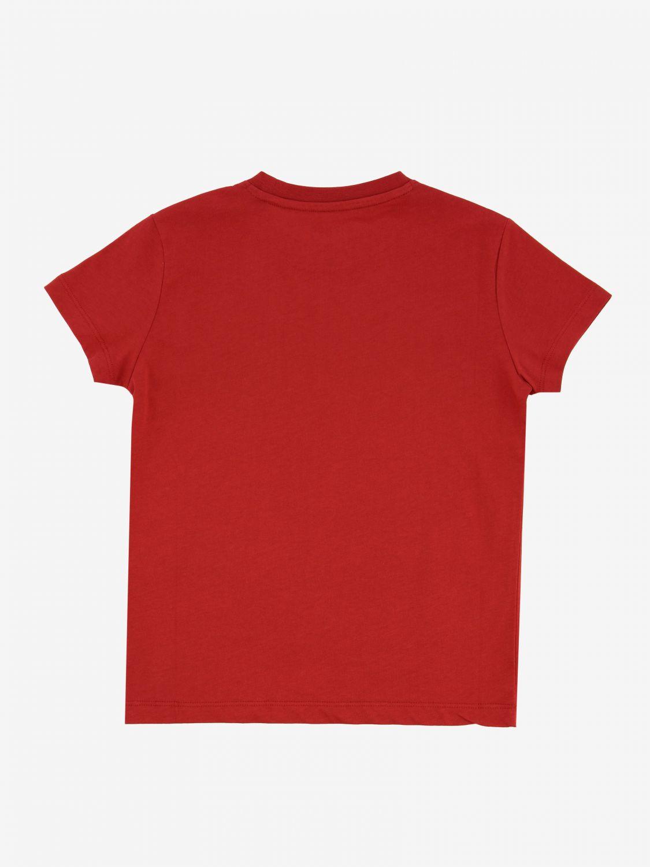 T-shirt Blauer avec logo imprimé rouge 2