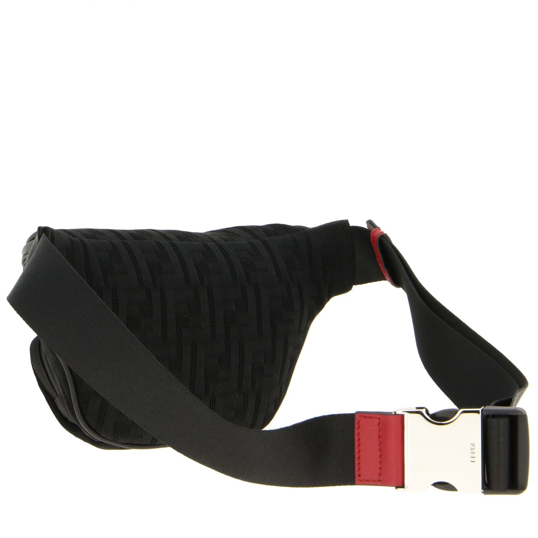 Sac ceinture en filet Fendi avec monogramme FF all over noir 3
