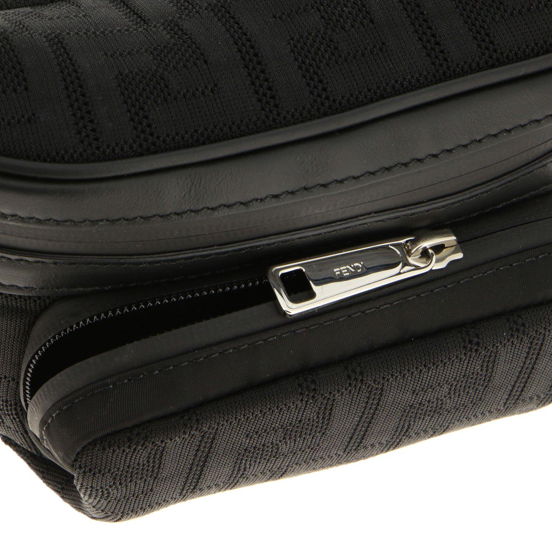 Sac ceinture en filet Fendi avec monogramme FF all over noir 4