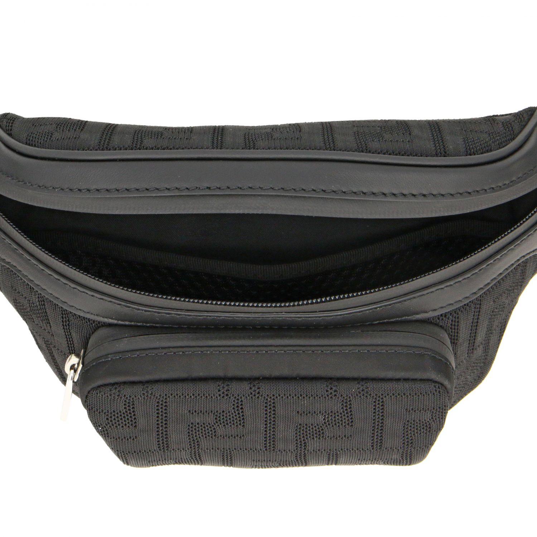 Sac ceinture en filet Fendi avec monogramme FF all over noir 5
