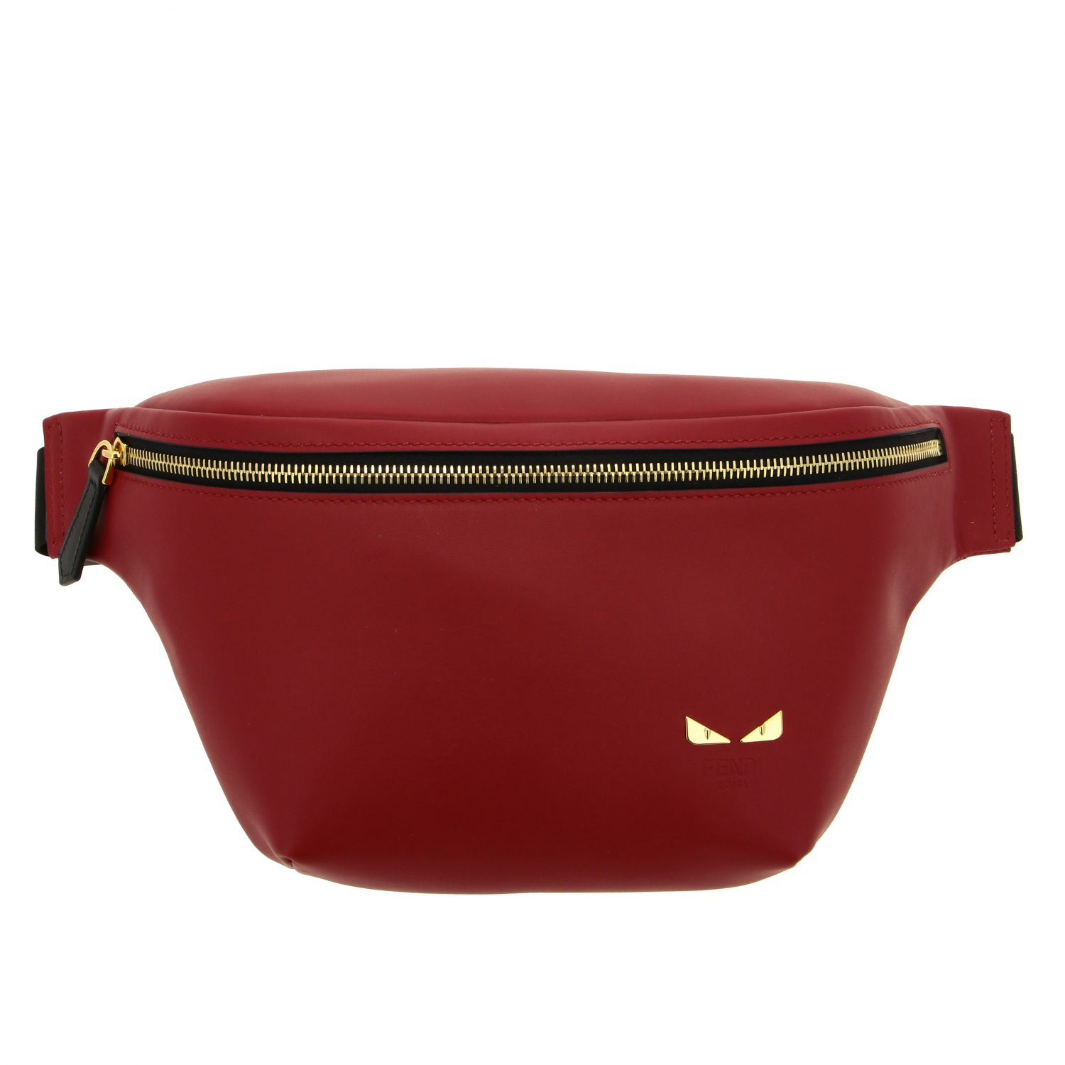 Fendi belt bag in smooth leather with mini bugs red 1