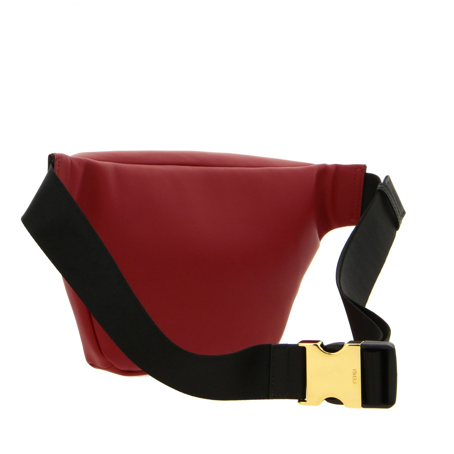 Fendi belt bag in smooth leather with mini bugs red 3
