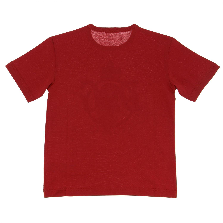 T-shirt Dolce & Gabbana: T-shirt Dolce & Gabbana a maniche corte con logo crest rosso 2