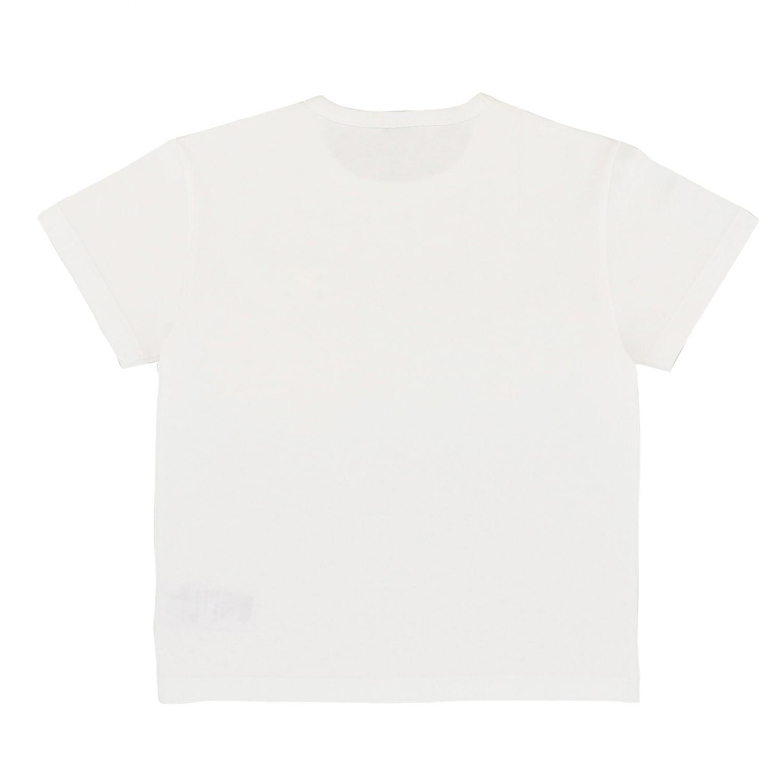 T-shirt Dolce & Gabbana: T-shirt Dolce & Gabbana a maniche corte con logo bianco 2