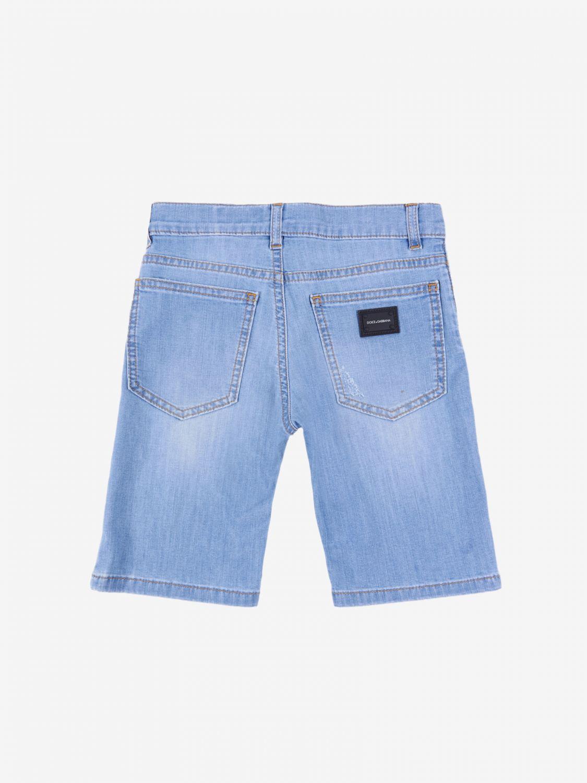 Pantaloncino Dolce & Gabbana: Pantaloncino di jeans Dolce & Gabbana polvere 2