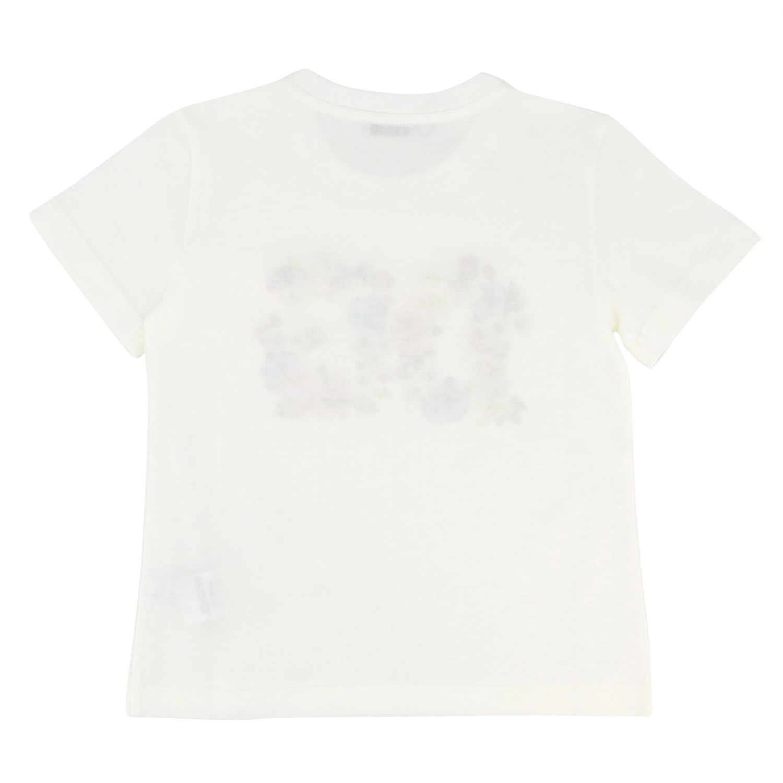 T-shirt Dolce & Gabbana: T-shirt Dolce & Gabbana con logo DG floreale bianco 2