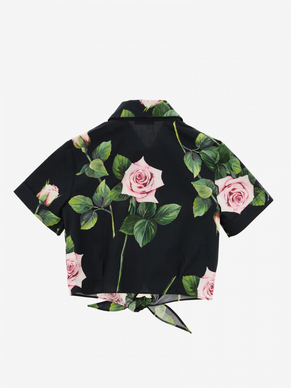 Chemise Dolce & Gabbana à motif floral rose 2