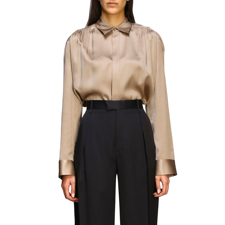 Bottega Veneta silk shirt beige 1