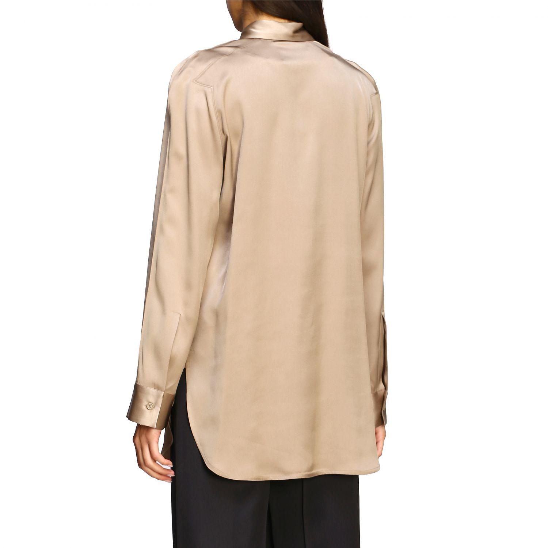 Bottega Veneta silk shirt beige 3