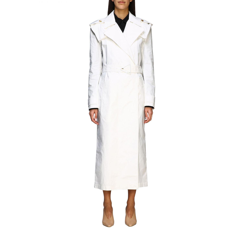 Coat Bottega Veneta: Coat women Bottega Veneta white 1