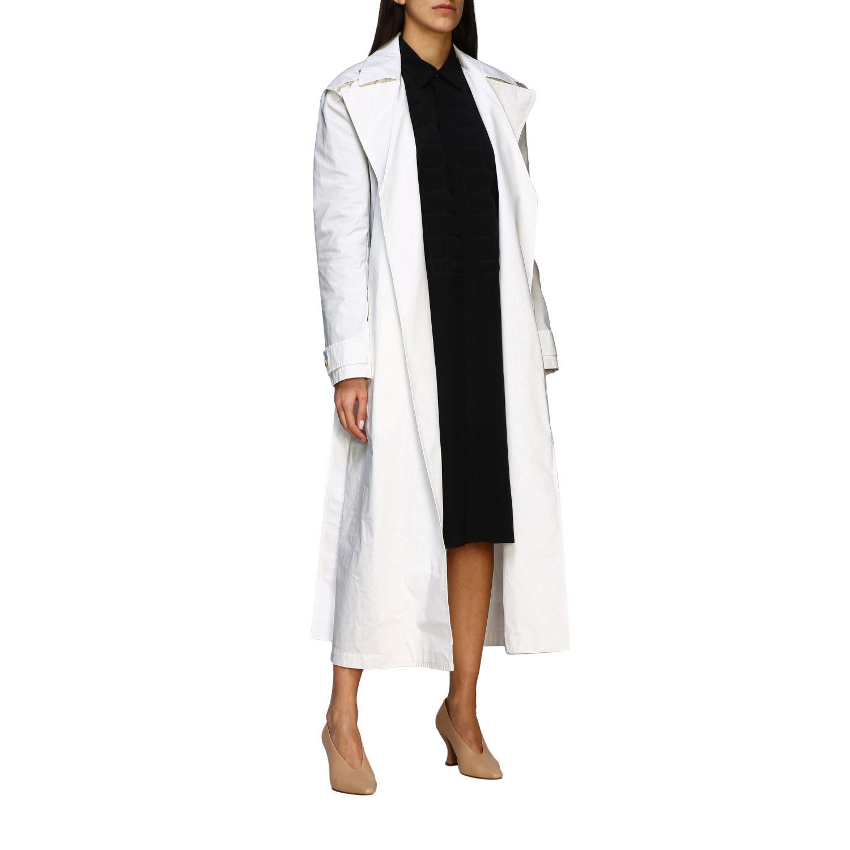 Coat Bottega Veneta: Coat women Bottega Veneta white 2