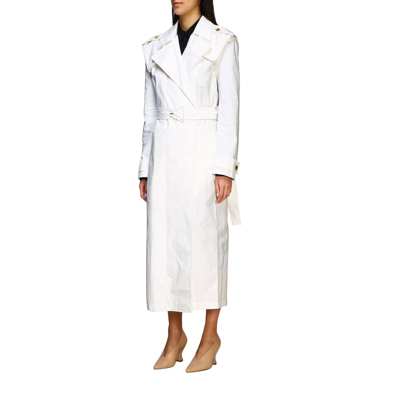 Coat Bottega Veneta: Coat women Bottega Veneta white 4