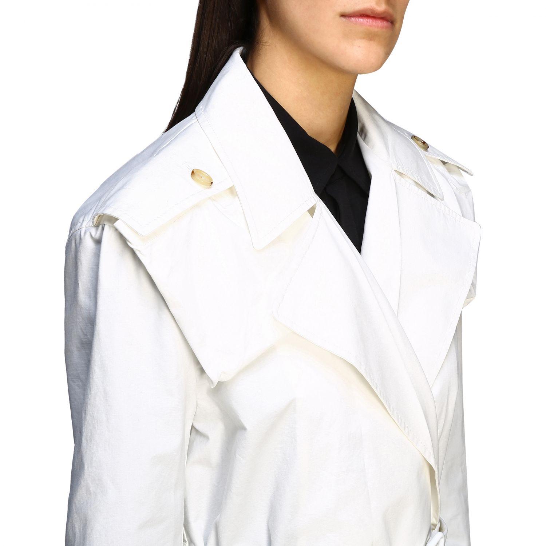 Coat Bottega Veneta: Coat women Bottega Veneta white 5