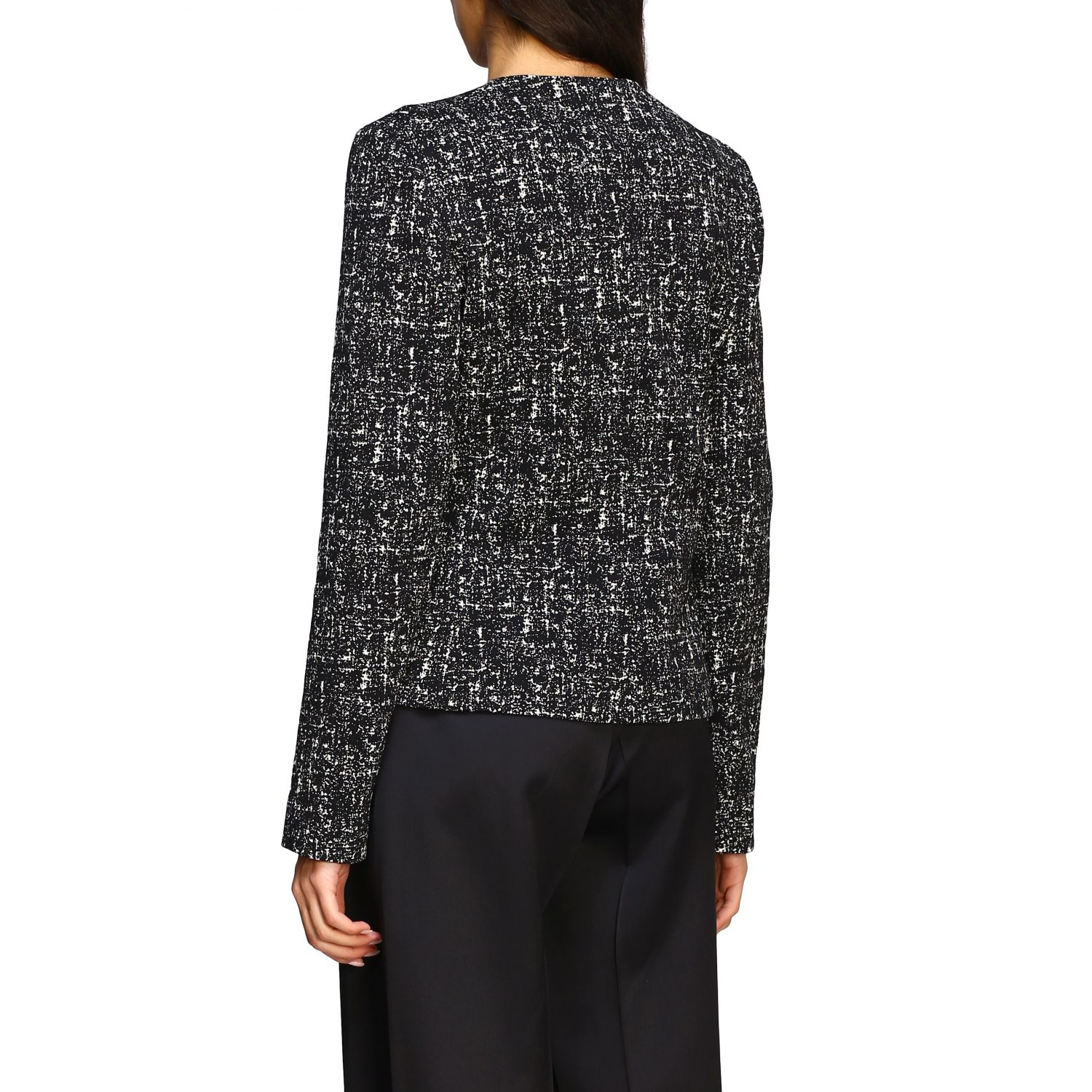 Bottega Veneta jacket in blend bouclé wool black 3