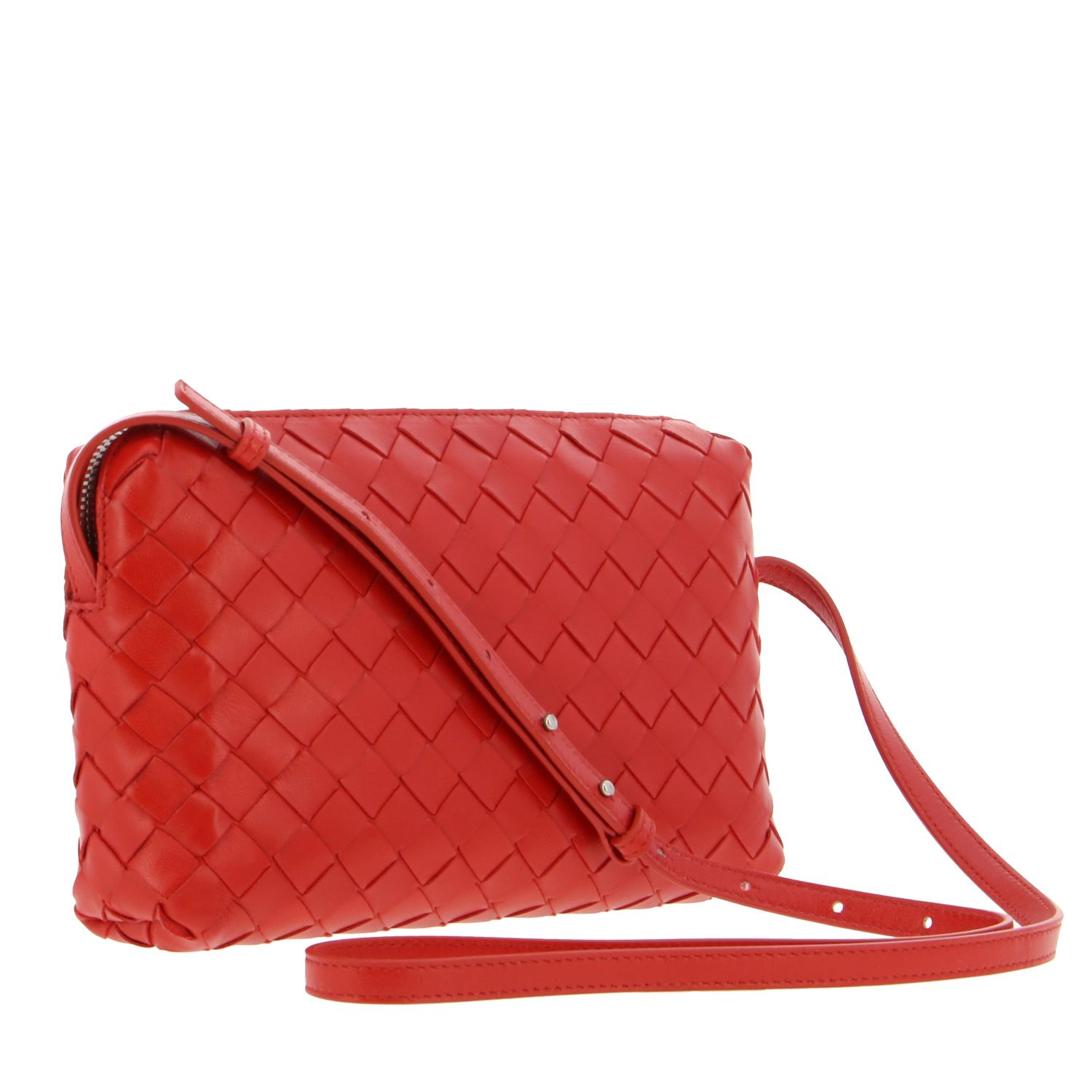 Crossbody bags Bottega Veneta: Shoulder bag women Bottega Veneta red 3