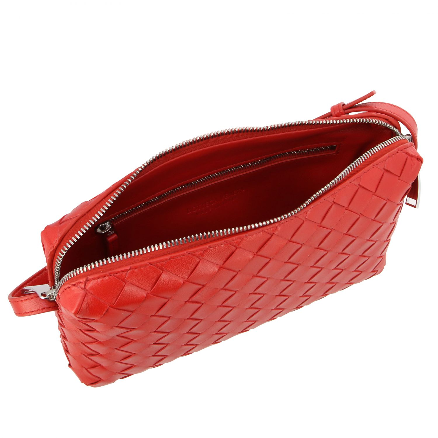 Crossbody bags Bottega Veneta: Shoulder bag women Bottega Veneta red 5