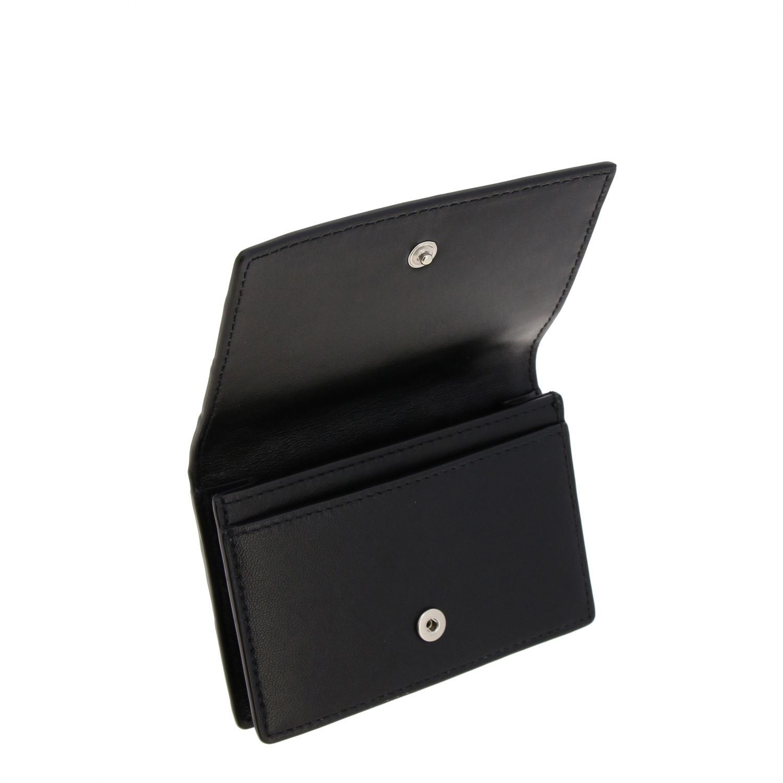 Bottega Veneta Geldbörse aus geflochtenem Leder schwarz 3