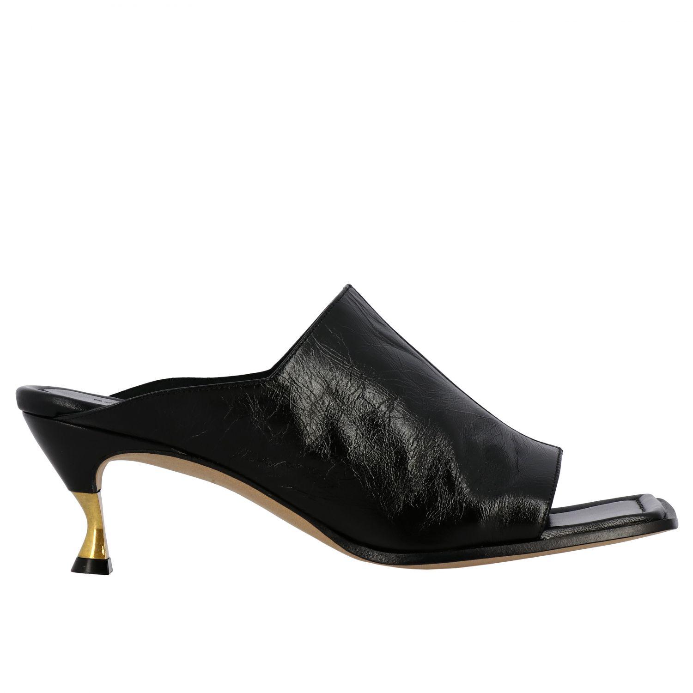 Sandales à talons Bottega Veneta: Sandales Bottega Veneta en cuir nappa noir 1
