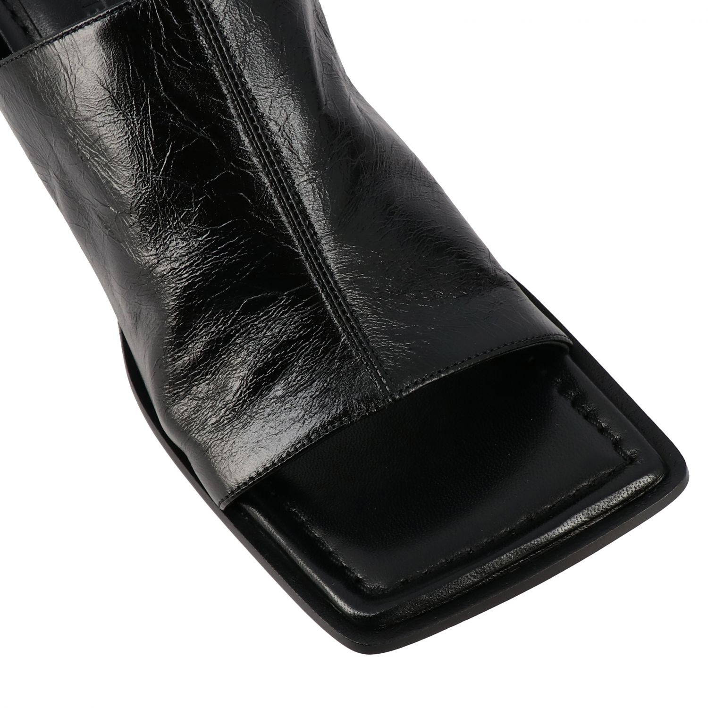 Sandales à talons Bottega Veneta: Sandales Bottega Veneta en cuir nappa noir 4