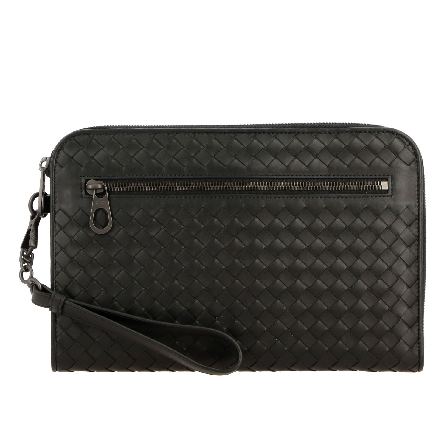 Clutch Bottega Veneta in pelle intrecciata nero 1
