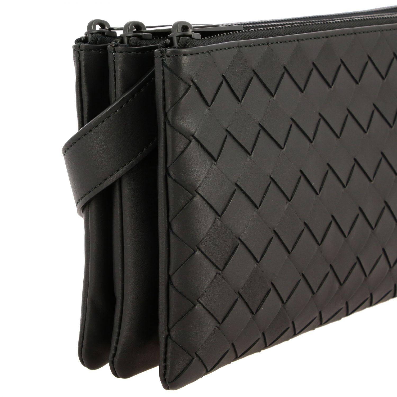 Bags Bottega Veneta: Bottega Veneta modular shoulder bag in woven leather black 4