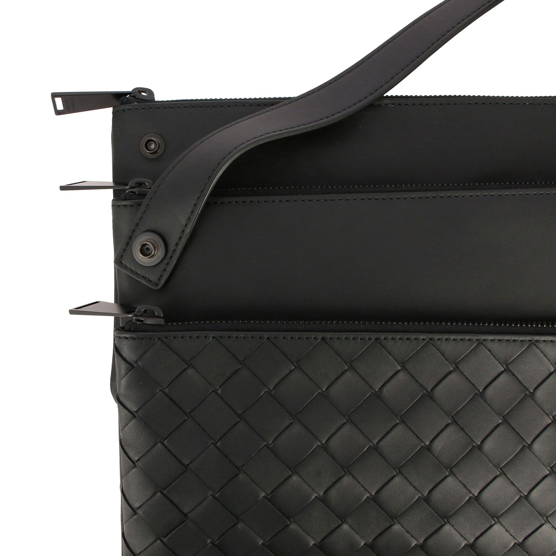 Bags Bottega Veneta: Bottega Veneta modular shoulder bag in woven leather black 5