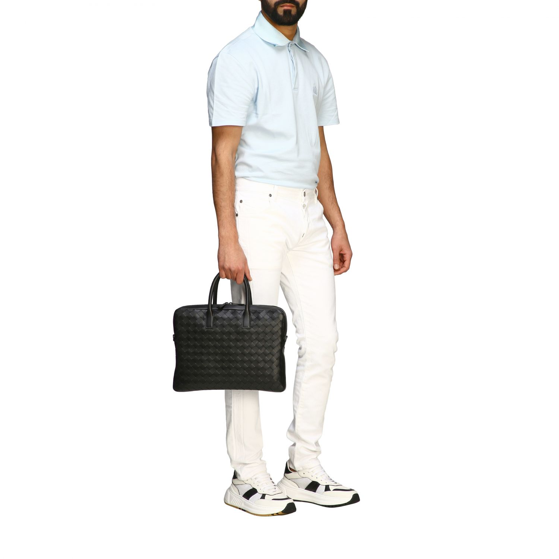 Bags Bottega Veneta: Bottega Veneta work bag in woven leather black 2