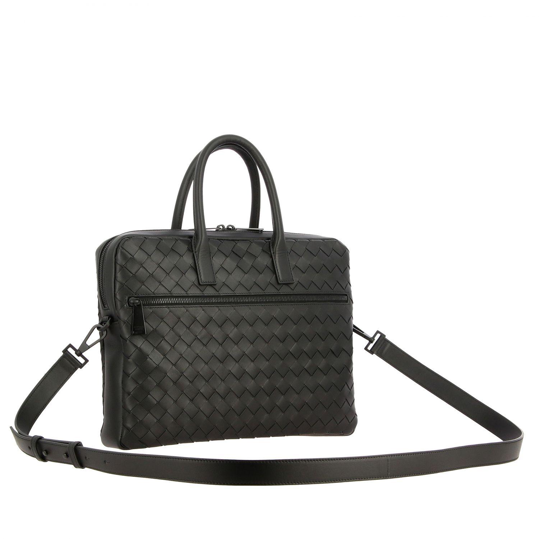 Tasche Bottega Veneta: Bottega Veneta Arbeitstasche aus gewebtem Leder schwarz 3