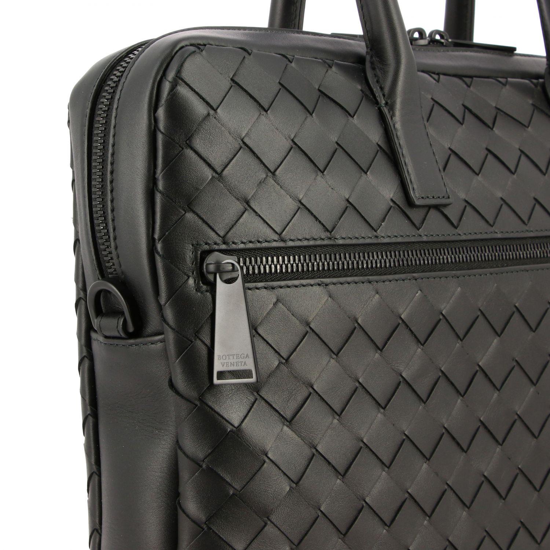 Tasche Bottega Veneta: Bottega Veneta Arbeitstasche aus gewebtem Leder schwarz 4