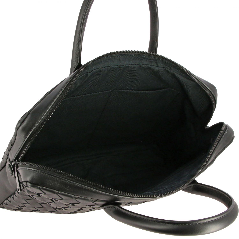 Tasche Bottega Veneta: Bottega Veneta Arbeitstasche aus gewebtem Leder schwarz 5