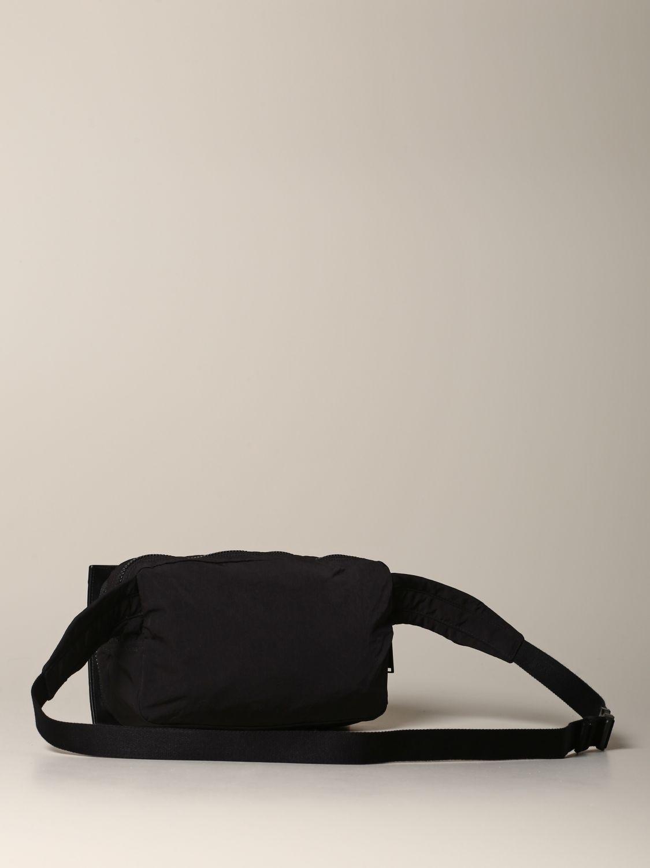 Bottega Veneta belt bag in woven leather and resealable nylon black 2