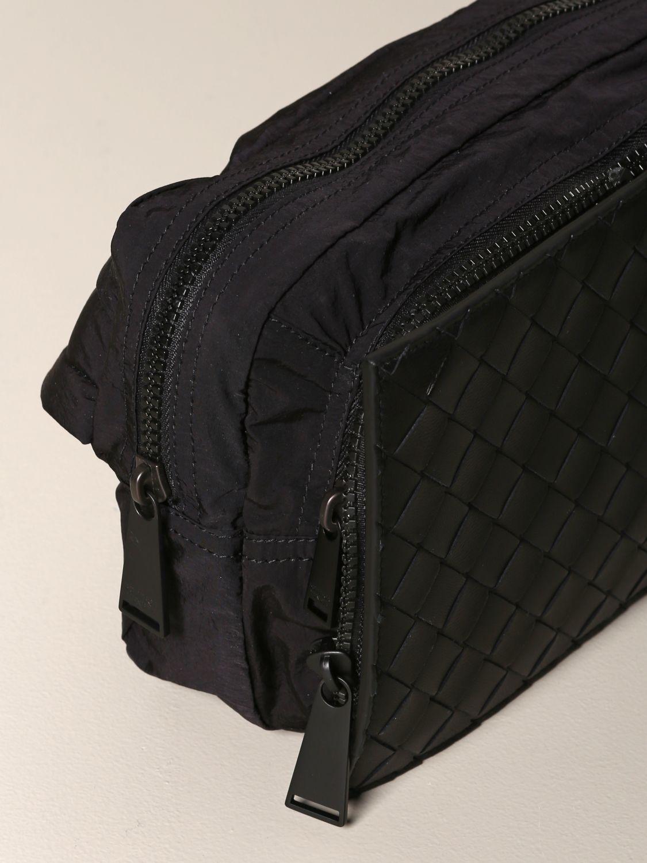 Bottega Veneta belt bag in woven leather and resealable nylon black 3