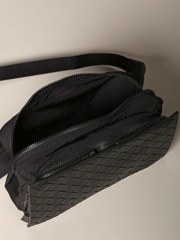 Bottega Veneta belt bag in woven leather and resealable nylon black 4